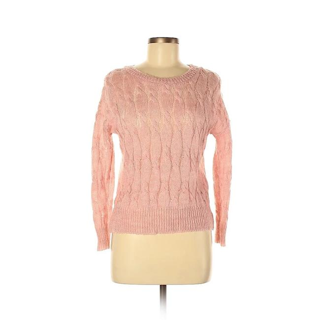 Item - Cable Knit Pink Sweater