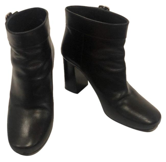 Item - Black Leather Ankle Boots/Booties Size US 9 Regular (M, B)