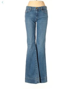 Goldsign Boho Fit Mid Rise Flare Leg Jeans-Medium Wash