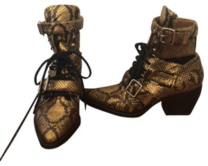 Chloé black and gold Boots