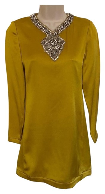 Item - Yellow By Juicy Couture Beaded Short Cocktail Dress Size 0 (XS)