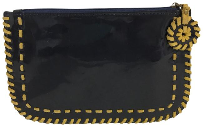 Item - Navy Blue Patent Leather Clutch/ Wristlet Clutch
