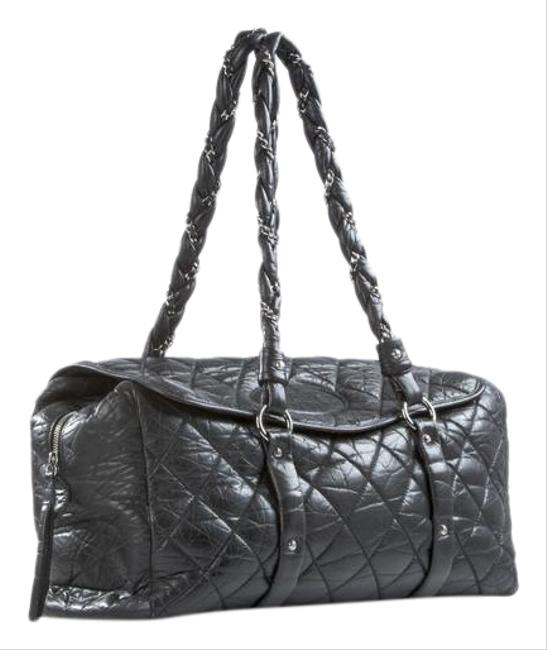Item - Timeless Tote Classic Flap Quilted Distressed Large Black Calfskin Leather Weekend/Travel Bag