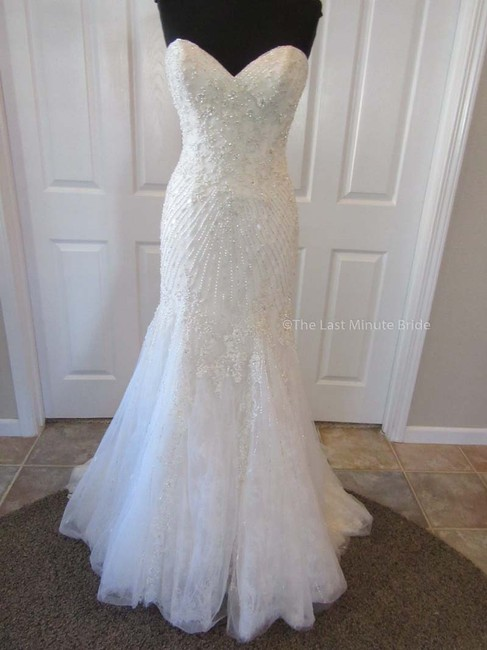 Item - Light Gold/Ivory Tulle 9794 Feminine Wedding Dress Size 8 (M)