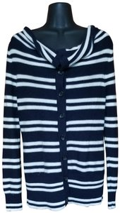 Banana Republic Striped Nautical Sweater Spring Preppy Cardigan