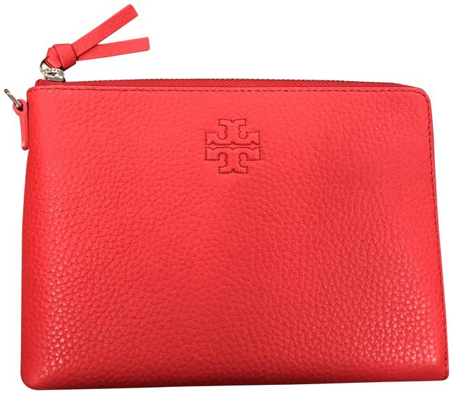 Item - Thea Large Zip Pouch Brilliant Red Cowhide Leather Wristlet