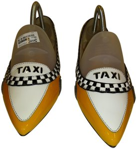 Kate Spade Taxi Rare Fun Sold Out yellow & white Flats