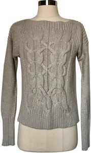 Brochu Walker Cable Knit Fisherman Hand Knit Boat Neck Sweater