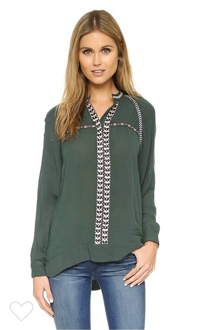 Item - Olive Wyatt Embroidered Trim Tunic Size 0 (XS)