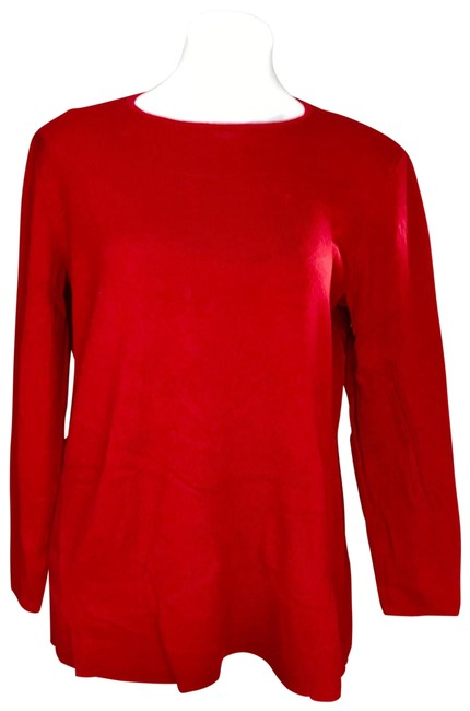 Item - Red Crewneck Soft Thin Knit Sweater
