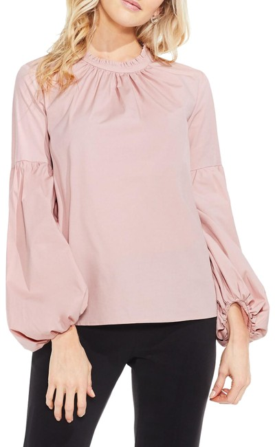 Item - Pink Balloon Sleeve Blouse Size 6 (S)
