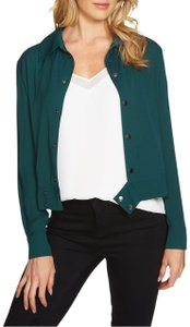 1.STATE Monochrome Longsleeve Embroidered Green Jacket