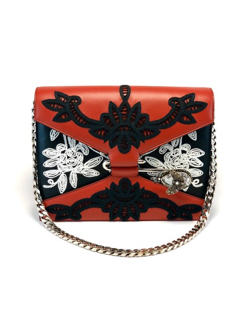 Alexander McQueen Red Calfskin Leather Shoulder Bag Alexander McQueen Red Calfskin Leather Shoulder Bag Image 1