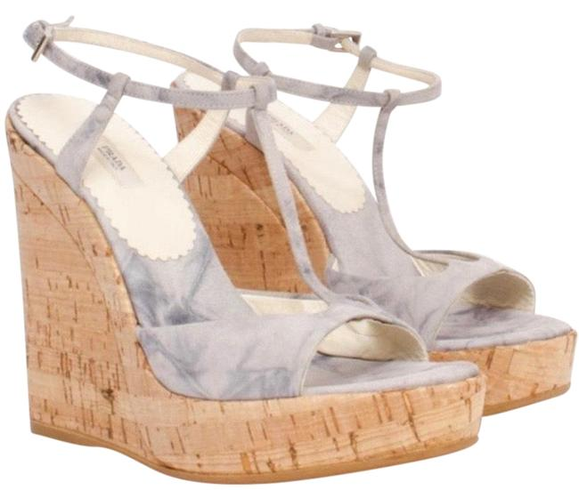 Item - Lilac Tie-dye Suede Cork Platform Sandals Wedges Size EU 38 (Approx. US 8) Regular (M, B)