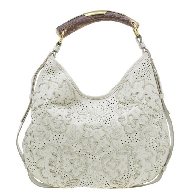 Item - Mombasa Paris Limited Edition Horn Cream Leather Hobo Bag