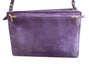 Vintage Jay Herbert New York Suede Purple Purse Shoulder Bag
