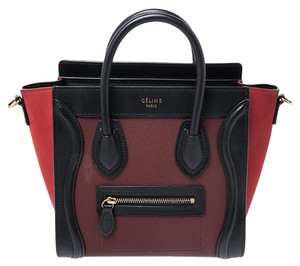 Céline Leather Nano Tote in Multicolor
