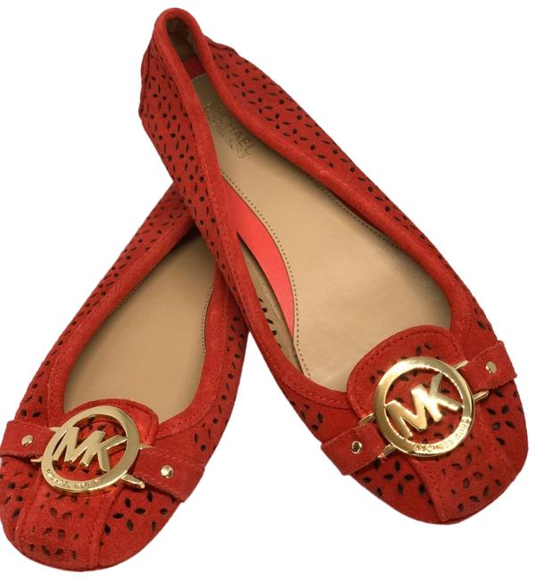 Item - Red/Gold Fulton Suede Like New Flats Size US 7 Regular (M, B)