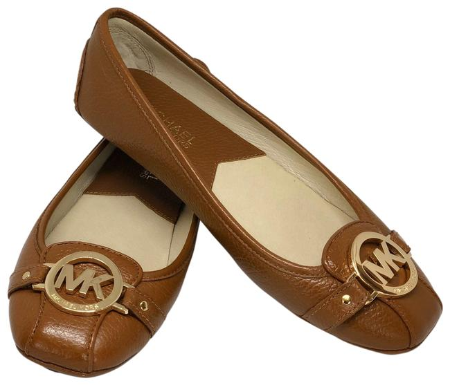 Item - Brown/Gold Leather Slip-on Loafers Flats Size US 7 Regular (M, B)