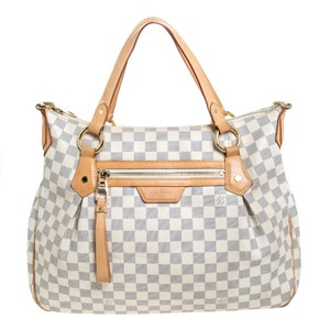 Louis Vuitton Canvas Leather Tote in Cream