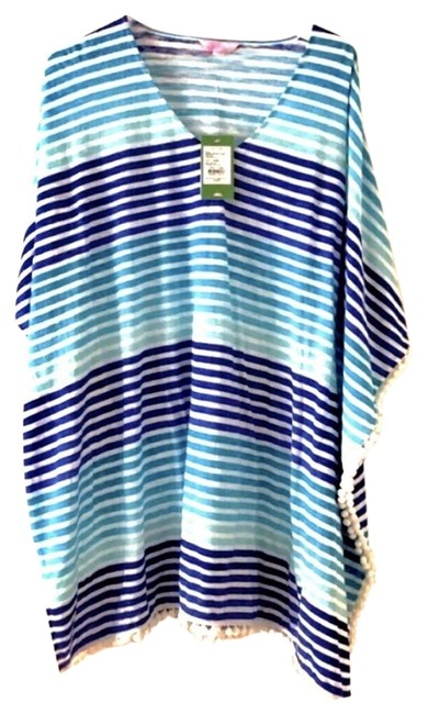 Item - Blue Brilliant Tradewind Caftan Stripe Cover-up/Sarong Size 0 (XS)