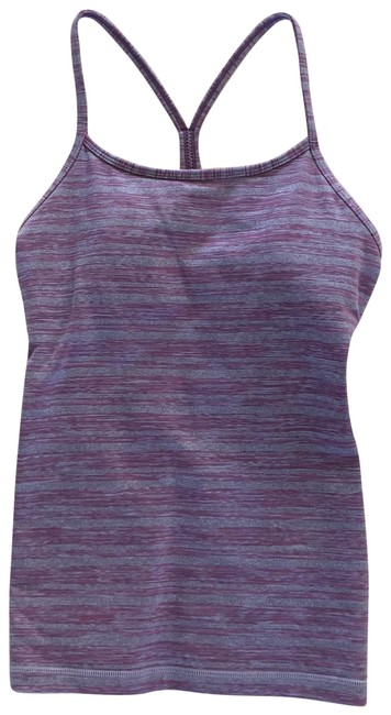 Item - Purple Gray Nwot Striped Tank Activewear Top Size 4 (S)