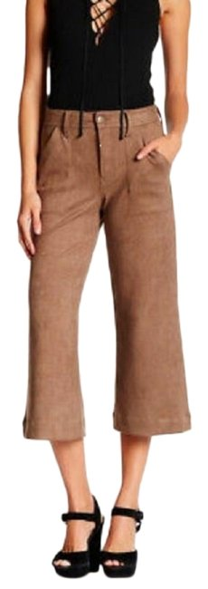 Item - Tan Sally Wide Leg High Waist Capri/Cropped Jeans Size 31 (6, M)