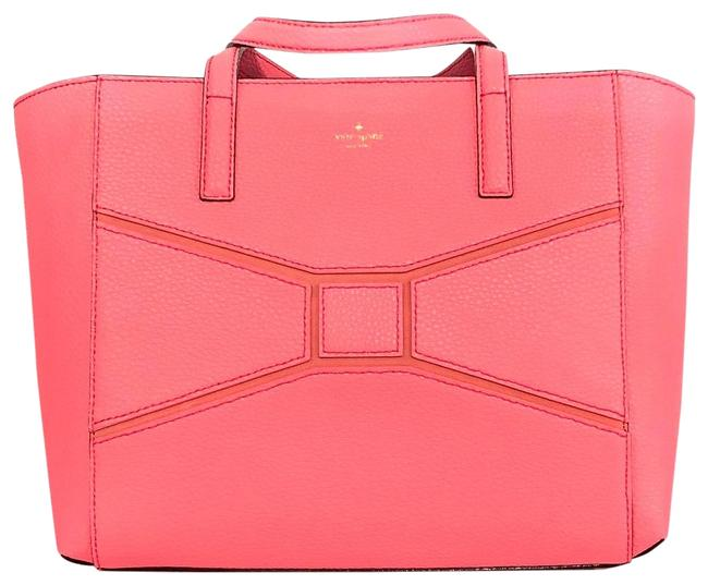 Item - New York Bridge Place Small Francisca Flamingo Pink Leather Tote