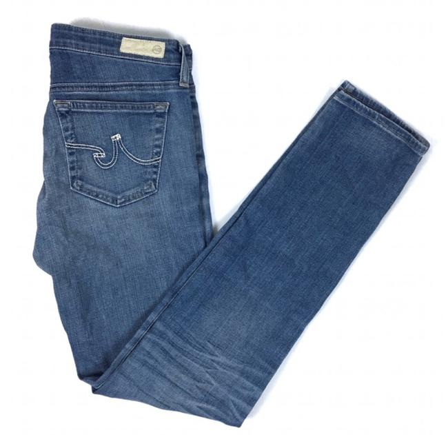 Item - Blue Light Wash 'the Slit' Cigarette Skinny Jeans Size 2 (XS, 26)