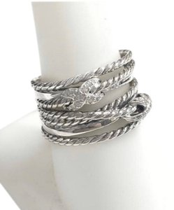 David Yurman GORGEOUS!! LIKE NEW!! David Yurman Diamonds and Sterling Silver Double Crossover Ring