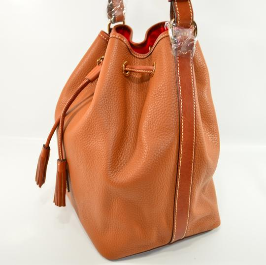 Dooney & Bourke Drawstring Pebbled And Leather Shoulder Bag