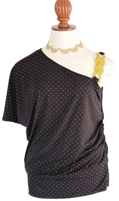 Item - Black Gold One Sleeve Blouse Size 12 (L)