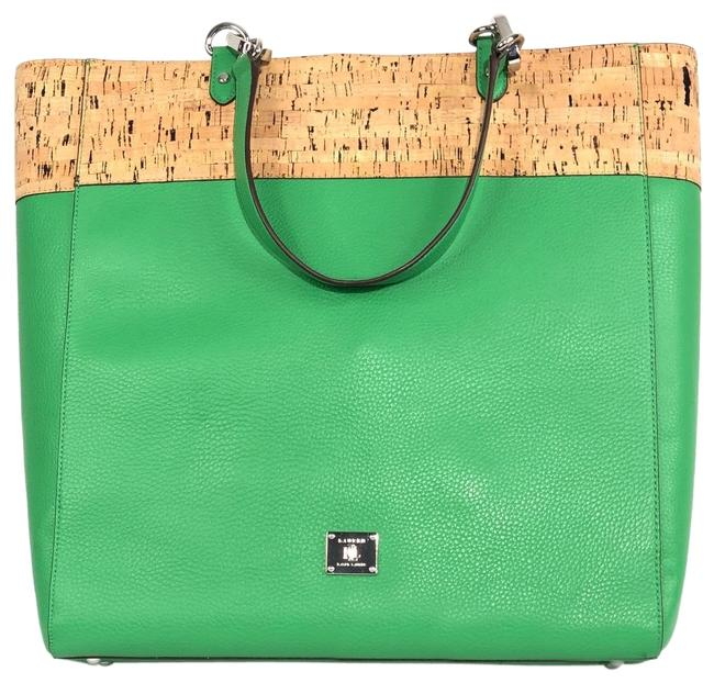 Item - Hanway Cork Shopper Green Leather Material Tote