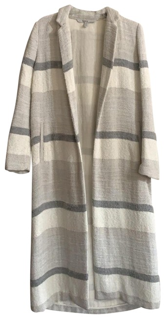 Item - Different Shades Of Grey Maxi Coat Size 4 (S)