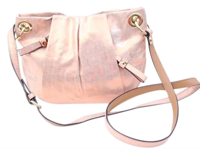Item - Embossed Blush Leather Cross Body Bag
