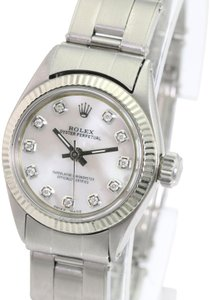 Rolex Rolex Lady Oyster Precision White MOP Diamond Dial Fluted Bezel 24mm
