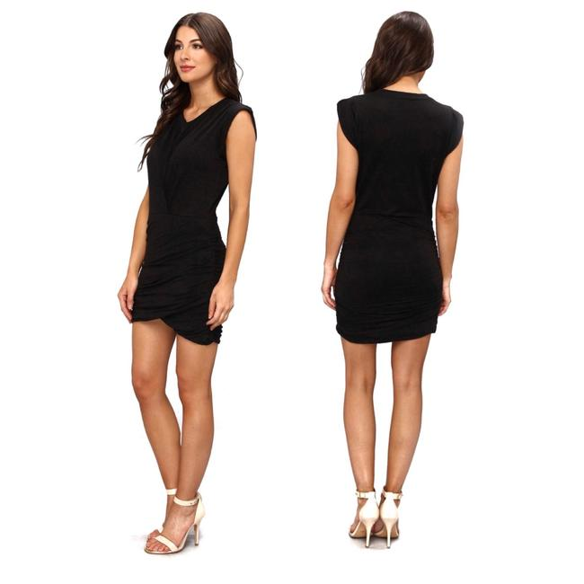 Item - Black Jersey Mikaela Linen Short Casual Dress Size 2 (XS)