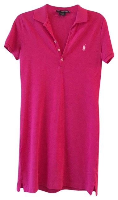 Item - Hot Pink Short Casual Dress Size 6 (S)
