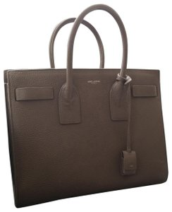 Saint Laurent Satchel in Medium Grey