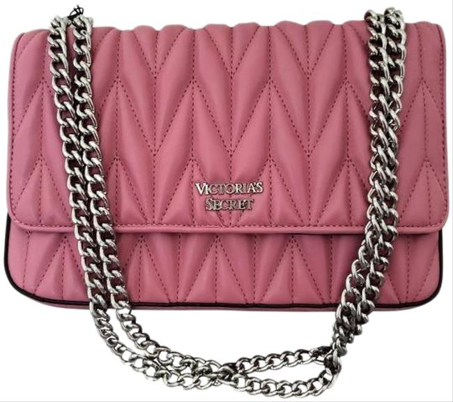 Item - Quilted Pink Leather Cross Body Bag
