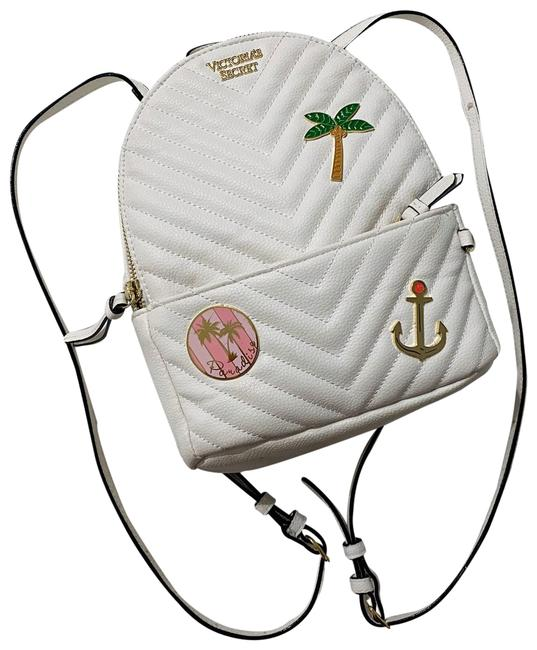 Item - Rare White Leather Backpack
