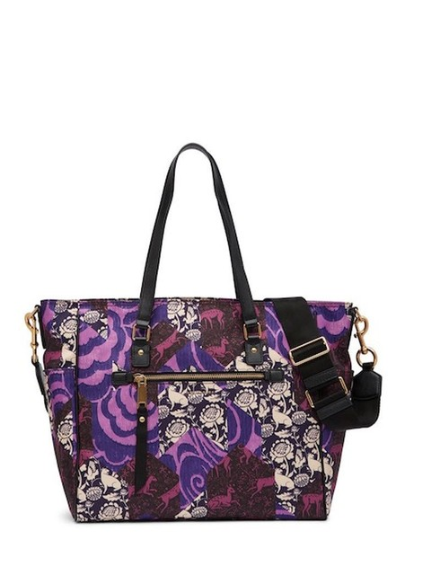 Item - Trooper Purple Tapestry Nylon Diaper Bag