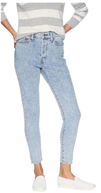 Item - Blue Wedgie Fit Light Wash High Rise Waist Distressed Skinny Jeans Size 32 (8, M)