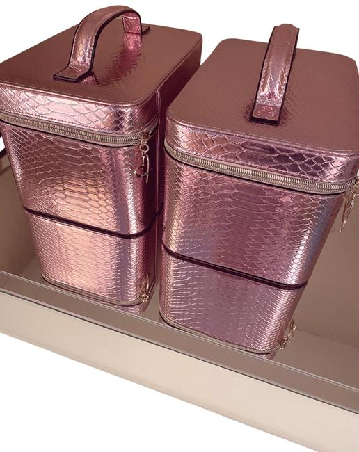 Item - Pink Set Of 2 Beauty Cosmetic Bag