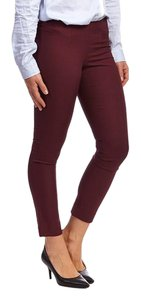 Harvé Benard Skinny Trouser Capri/Cropped Pants Oxblood/Burgundy
