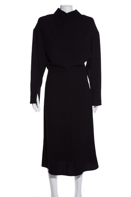 Item - Black Maxi Mid-length Short Casual Dress Size 4 (S)