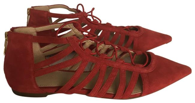 Item - Red Suede / Flats Size US 6 Regular (M, B)