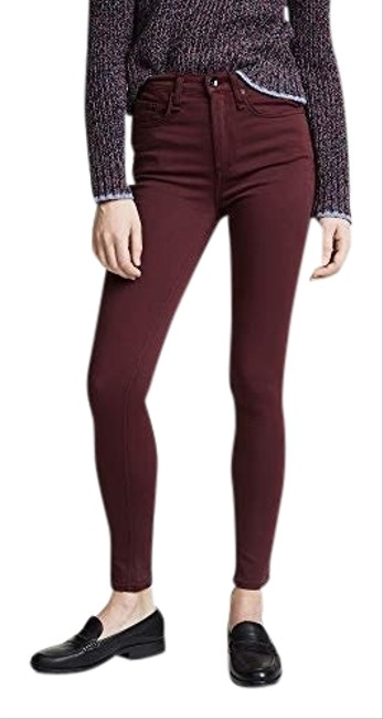 Item - Burgundy Plush High Rise Skinny Jeans Size 0 (XS, 25)