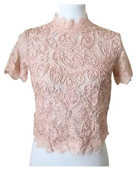 Item - Red Trafaluc Embroidered Lace Light Pink Blouse Size 4 (S)