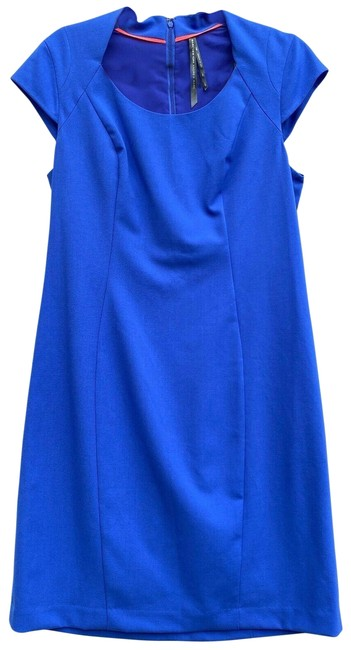 Item - Blue Cornflower Cap Sleeve V-neck Shea Short Casual Dress Size 12 (L)